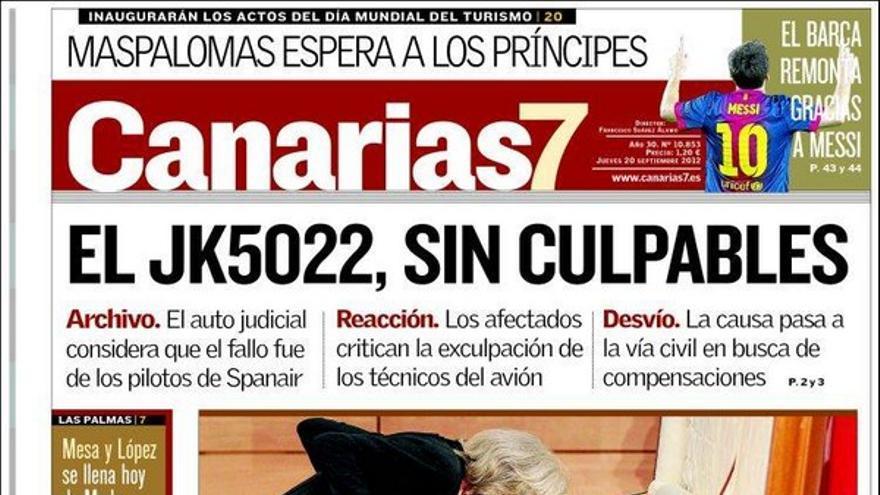 De las portadas del día (20/09/2012) #2