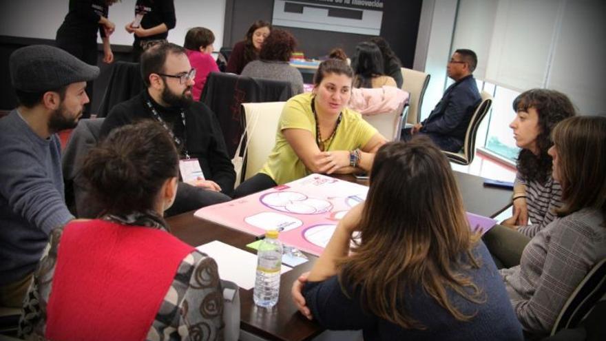 Uno de los grupos de discusión sobre los cinco retos migratorios