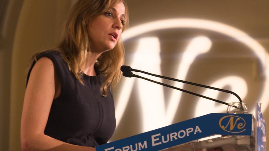 Tania Sánchez, en el Nueva Economía Fórum. / Imagen cedida por Mariano Neyra