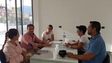Reunión de representantes del PP de La Palma con miembros de la asociación venezolano-canaria 'Salto del Ángel'.