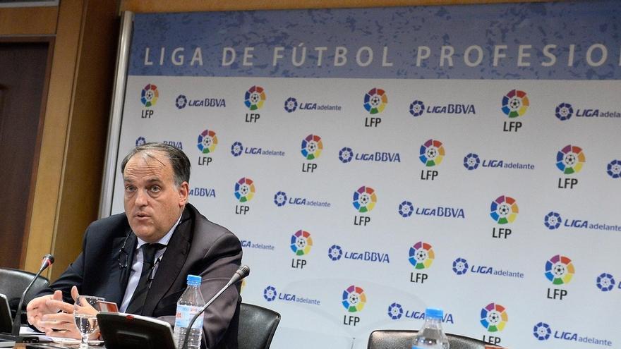 """El presidente de la Liga de Fútbol, partidario de la """"suspensión"""" de la final de Copa si se pita al himno o al Rey"""