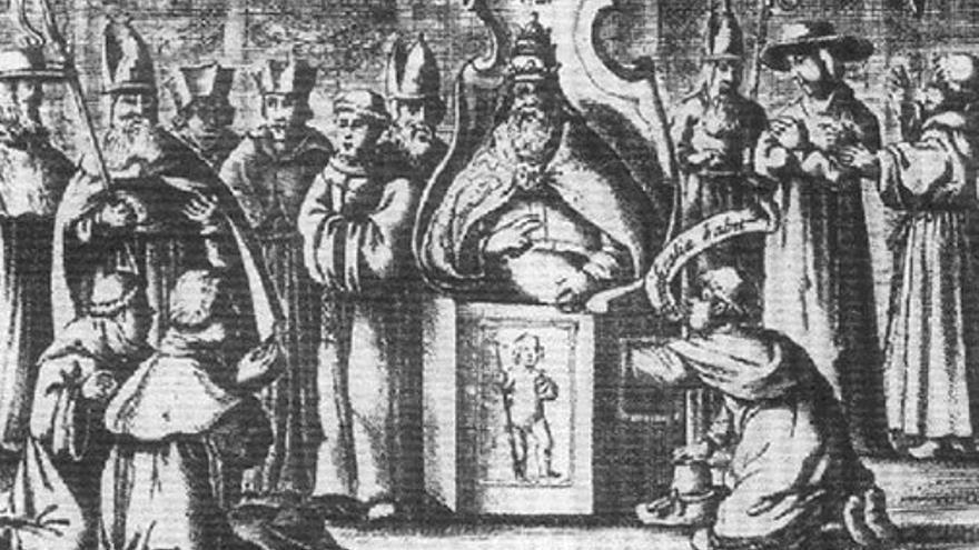 Prueba de virilidad realizada al Papa Inocencio X