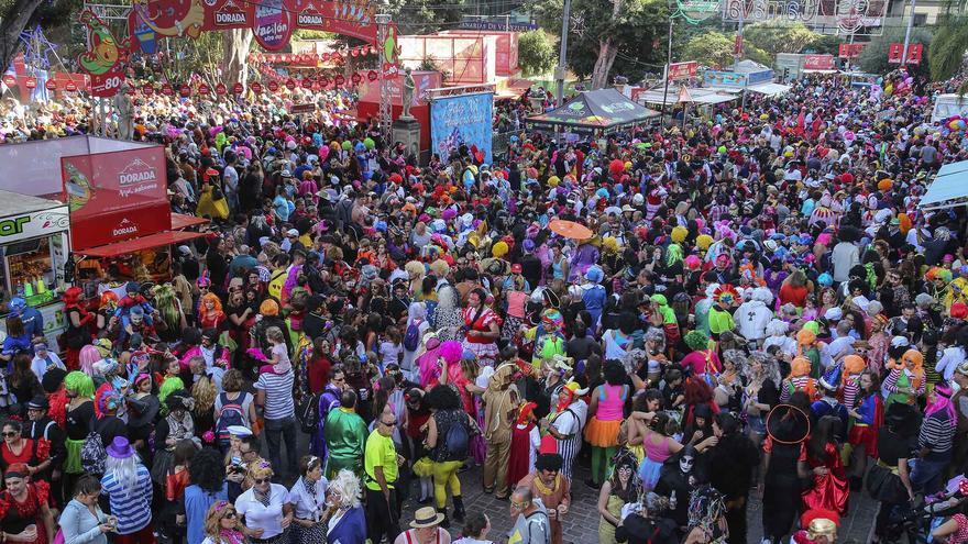Plaza del Príncipe, durante la celebración del 'Carnaval de día'