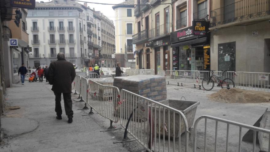 Las fases pendientes de las obras de reurbanización del Coso Bajo de Huesca han salido a licitación