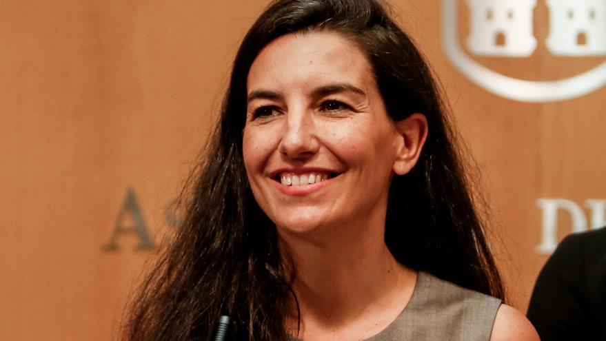 La portavoz de Vox, Rocío Monasterio, en la Asamblea de Madrid. / Europa Press
