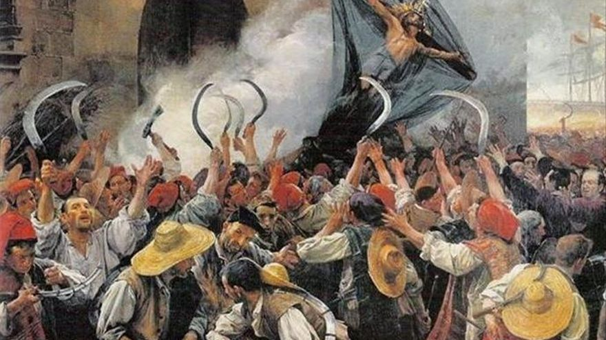 Sublevación catalana de 1640, también llamada Guerra de los Segadores. (Antoni Estruch)