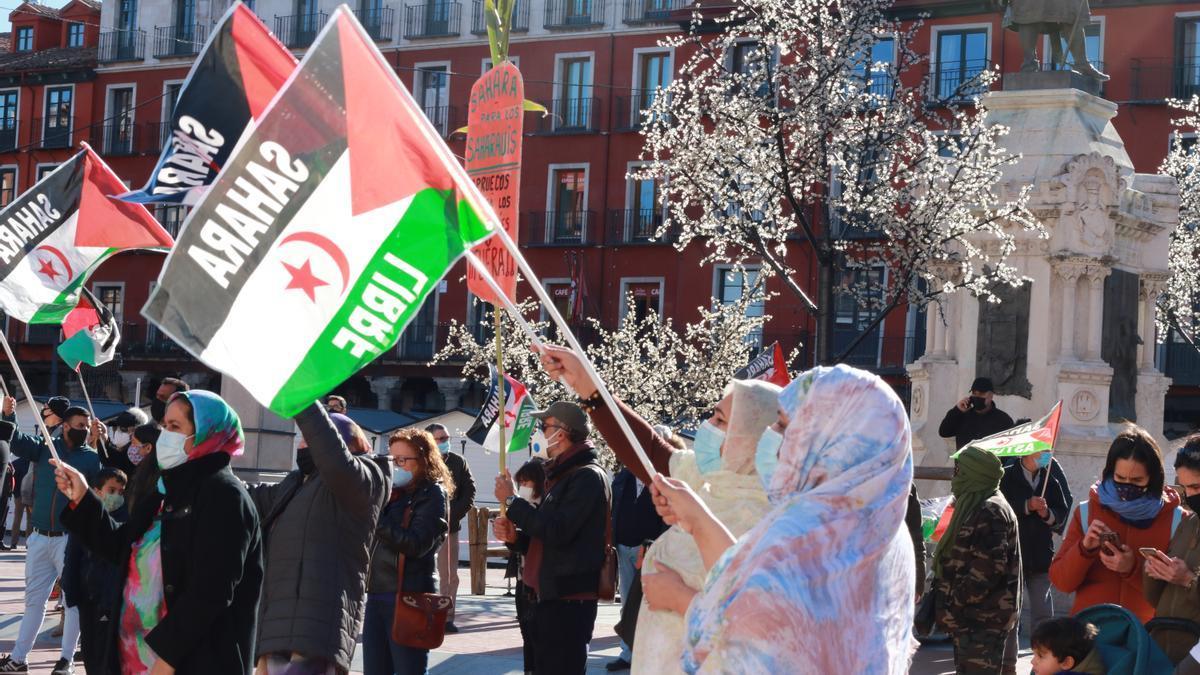La manifestación en la Plaza Mayor de Valladolid este fin de semana.