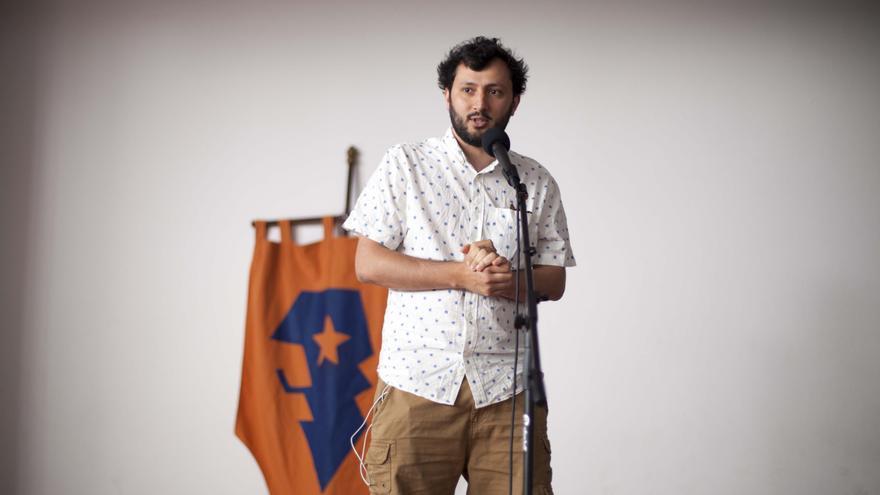 Presentación La Palma Rueda. Julio Vita, director festival italiano La Garimba Film Festival. Foto: Virginia Park