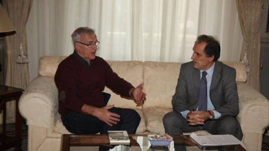 L'alcalde de València, Joan Ribó, i el degà de la RACV, Federico Martínez Roda