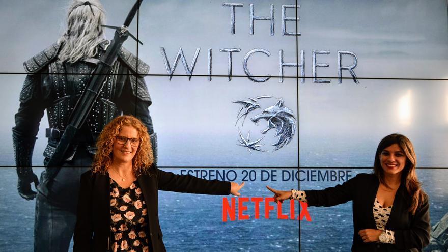 Raquel Díaz, consejera de Promoción Económica del Cabildo de La Palma, y María José Manso, coordinadora de La Palma Film Commission.