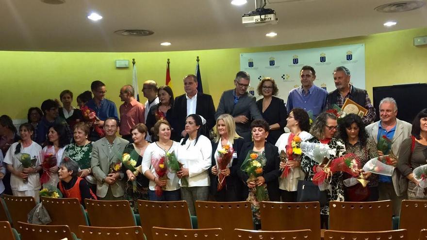 En la imagen, acto de homenaje a los trabajadores jubilados y con 25 años de servicio.