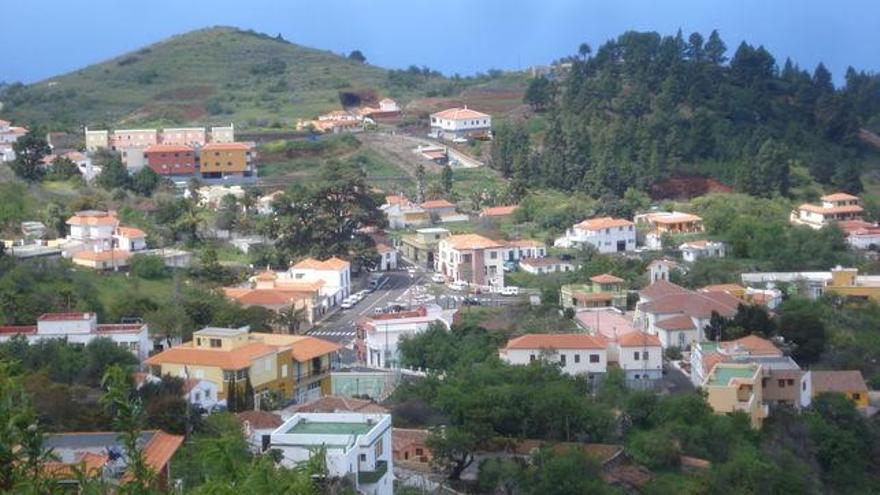 Panorámica del municipio de Puntagorda.