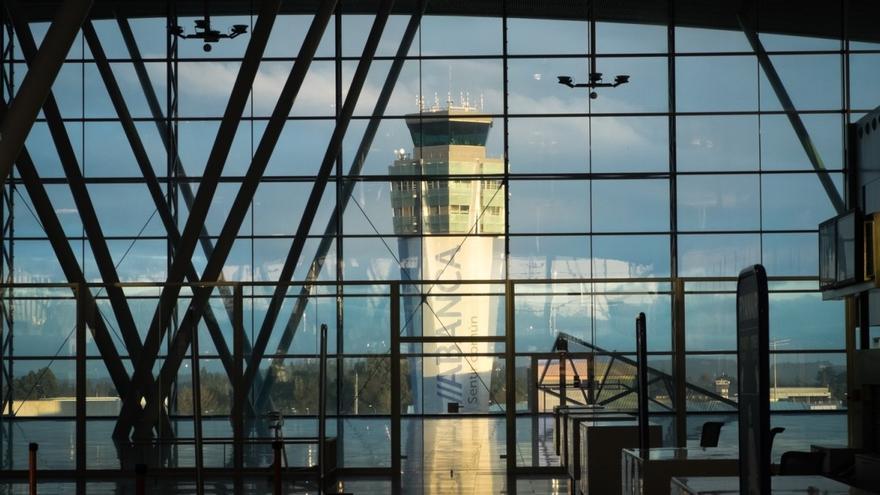 Aeropuerto de Lavacolla, en Santiago