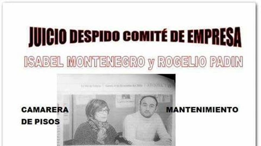 Isabel Montenegro y Rogelio Padín, trabajadores despedidos del Gran Hotel La Toja