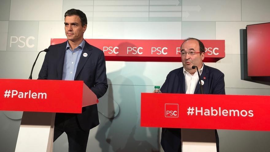 Iceta (PSC) avanza que Pedro Sánchez participará previsiblemente en tres o cuatro actos de la campaña del 21-D