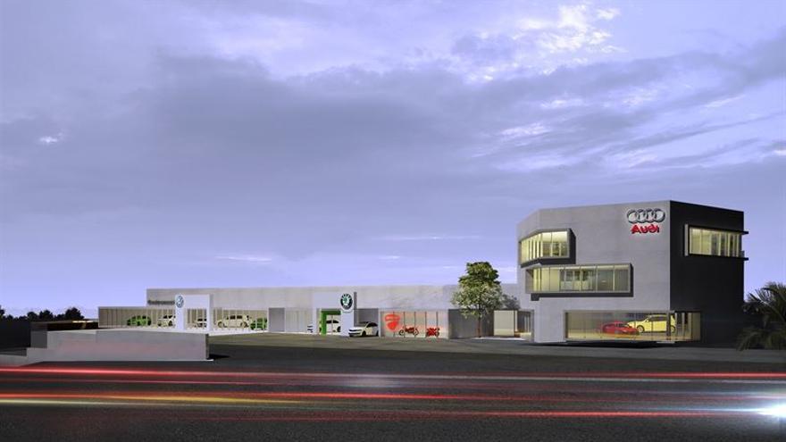 Imagen de las nuevas instalaciones de Volkswagen en Tenerife