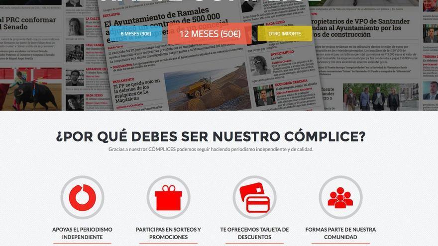Las ventajas de ser CÓMPLICE de eldiario.es Cantabria.