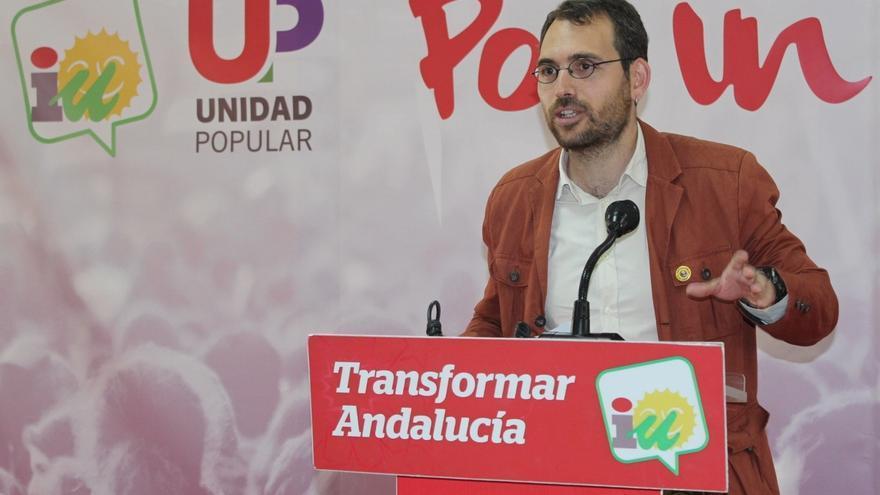 """Valero (IULV-CA): """"A Susana Díaz le preocupa más que Podemos e IU puedan ganar las elecciones a que las gane el PP"""""""