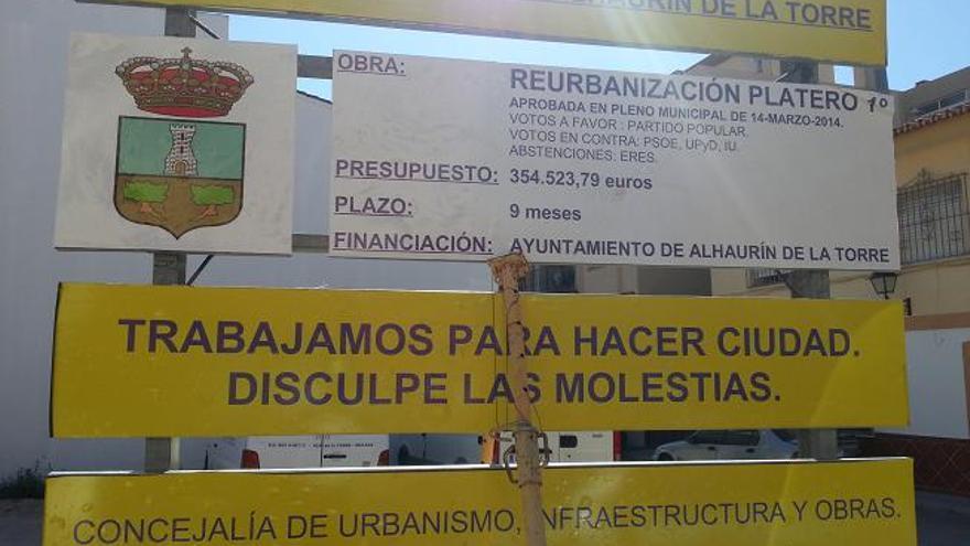 Una imagen del cartel en el que se informa del sentido del voto de los partidos
