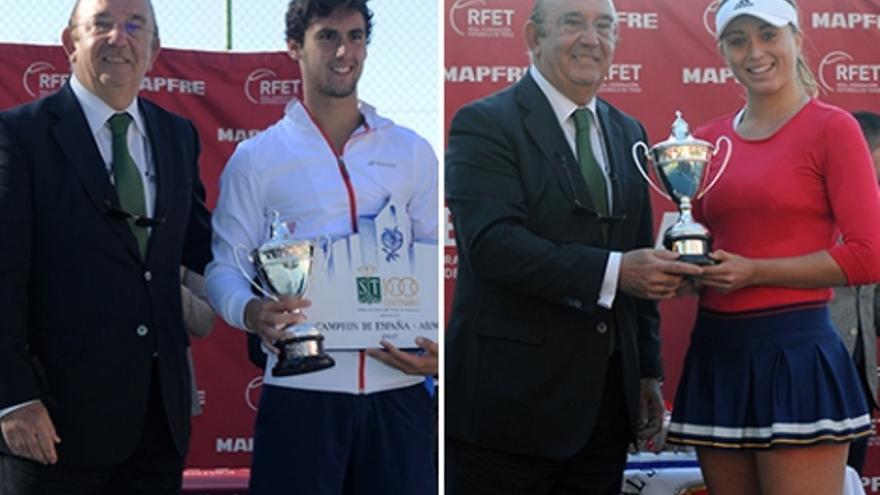 Los campeones de España de tenis en Granada