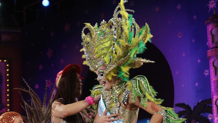 Drag La Tullida, tercer clasificado de la Gala del Carnaval de las 'Mil y una noches'.