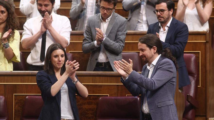 """Iglesias cree que la """"magnífica"""" intervención de Montero ha sorprendido a Rajoy, """"que no ha estado a la altura"""""""