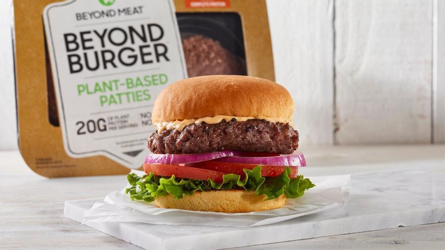 Una de las nuevas hamburguesas vegetales