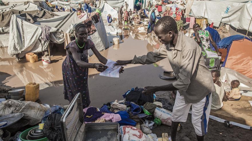 Campo de desplazados en Juba (Sudán del Sur).