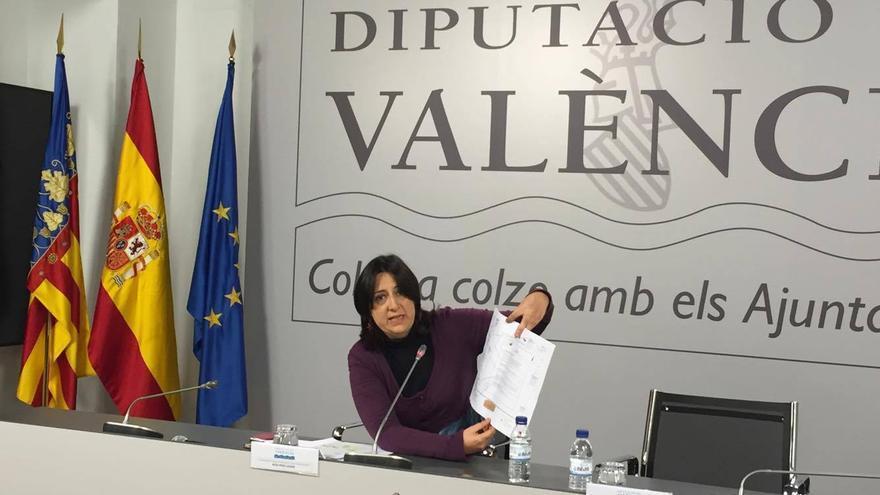 La diputada provincial de Esquerra Unida, Rosa Pérez Garijo
