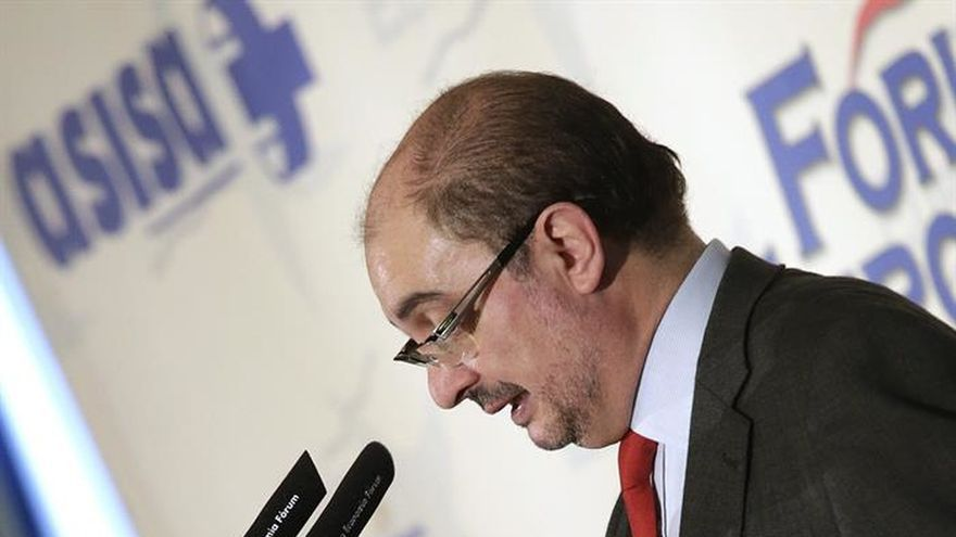 Lambán no ve ahora una coalición PP-PSOE, pero no la descarta en el futuro