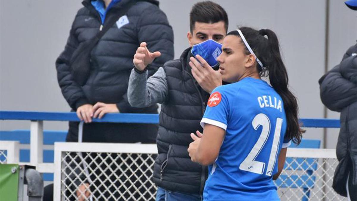 Celia Ruano, en un partido del SE AEM.