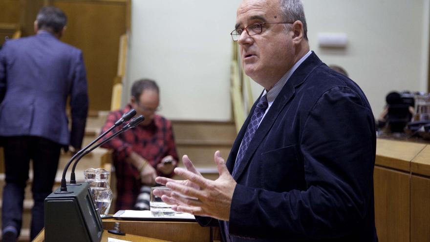 El portavoz del PNV, Joseba Egibar, este jueves en el Parlamento Vasco