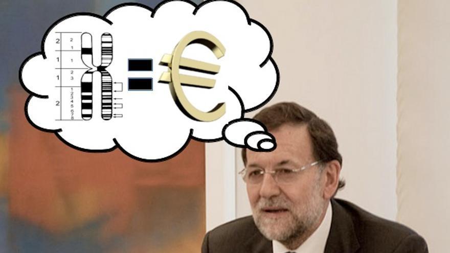 Rajoy resolviendo los misterios de la sociología molecular en una tarde que tenía libre