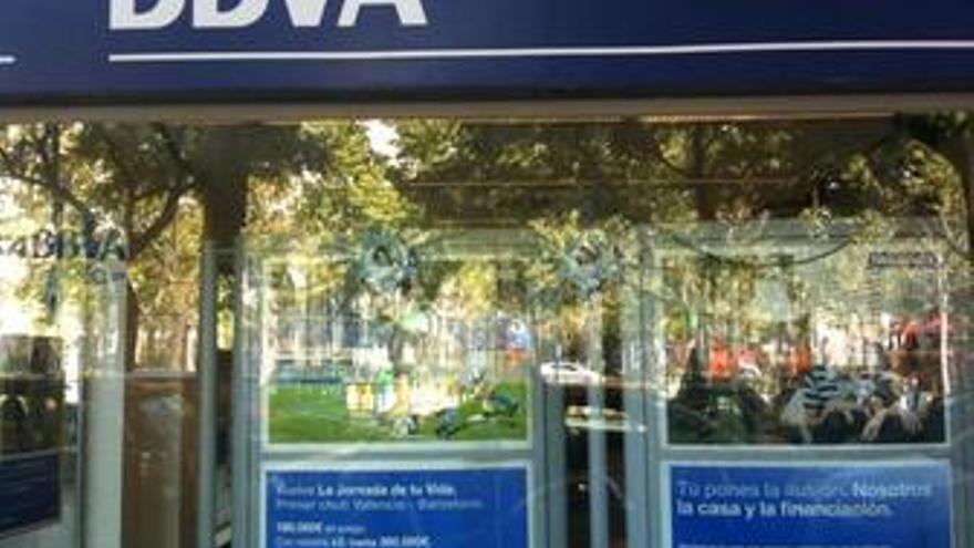 Fachada del BBVA en Madrid