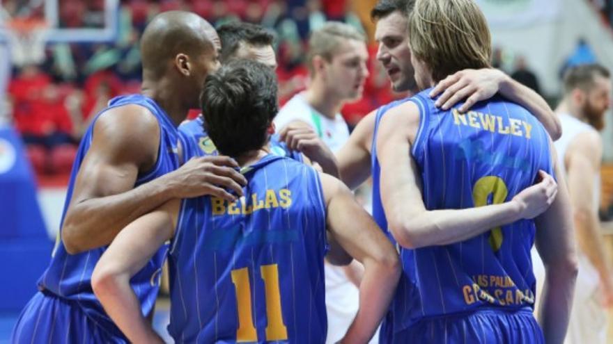 El Granca da un paso de gigante para la final al vencer en Rusia. Foto: CB Gran Canaria