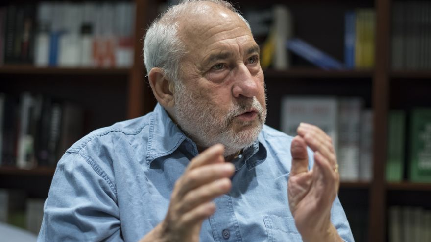 Joseph Stiglitz durante la conversación con eldiario.es