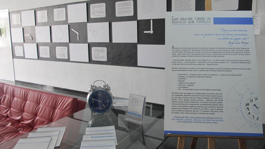 Exposición 'Los relojes tienen un horario que cumplir' que se muestra  hasta el 26 de septiembre en la Casa de la Cultura de Los Llanos de Aridane.
