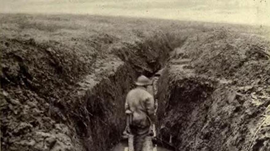 Las trincheras eran lodazales llenos de piojos
