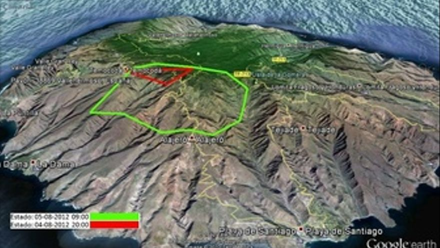 Perímetro Del Incendio De La Gomera