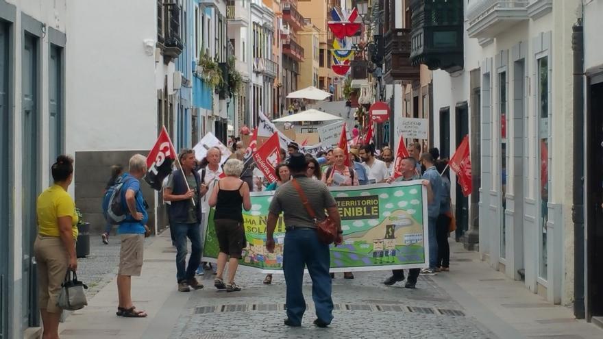 La marcha discurrió entre La Alameda y la Plaza de España. Foto: LUZ RODRÍGUEZ.