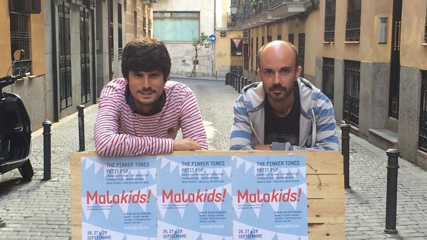 Antonio Sañudo (izq) y Antonio Pérez, organizadores de Malakids | Foto: Somos Malasaña