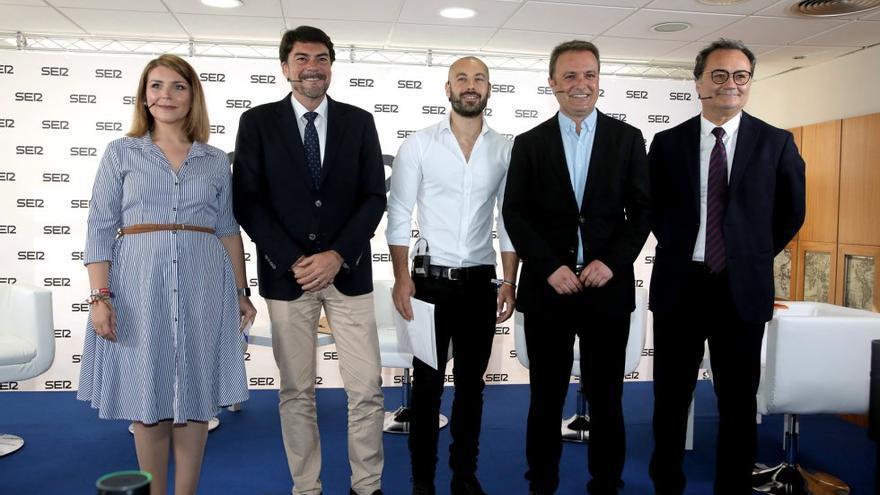 Los candidatos a la alcaldía de Alicante en el debate de Radio Alicante SER de este viernes (Foto Joaquín P. Reina, Cadena Ser)