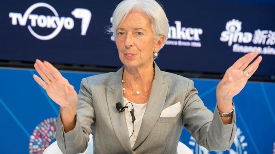 """Lagarde pide acabar rápidamente con """"la incertidumbre"""" política en Cataluña"""