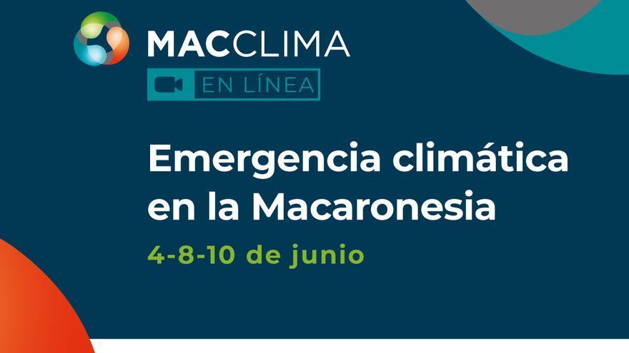 Cartel de las jornadas 'Emergencia climática en la Macaronesia'