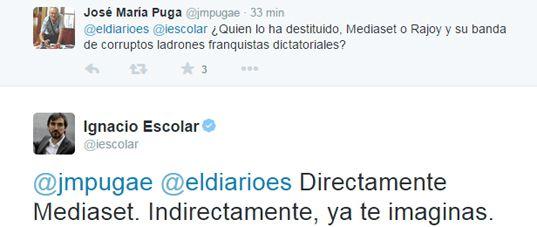 Mediaset destituye a Jesús Cintora como presentador de 'Las mañanas de Cuatro' Esco-tweet-2