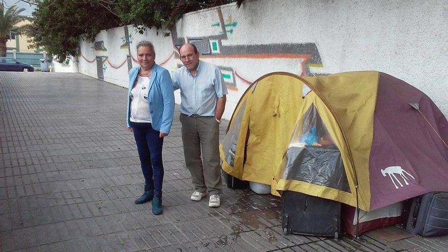 Javier y Antonia estuvieron en situación de calle