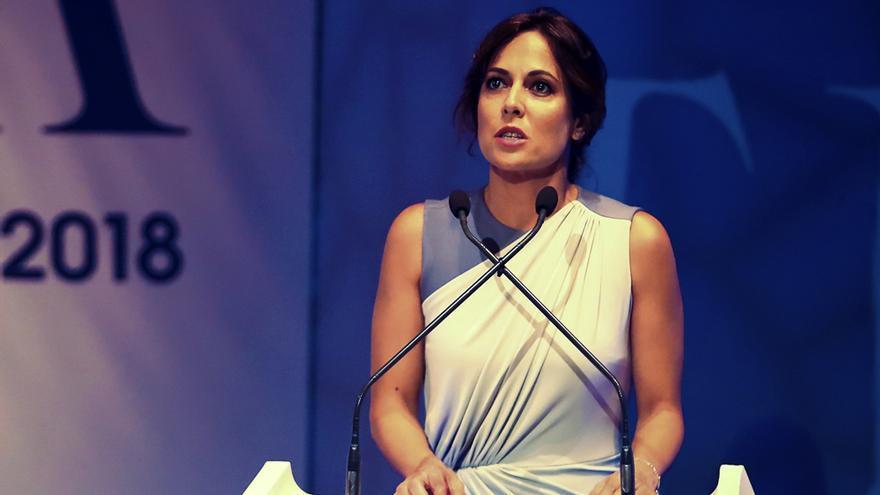 Mara Torres en un evento público