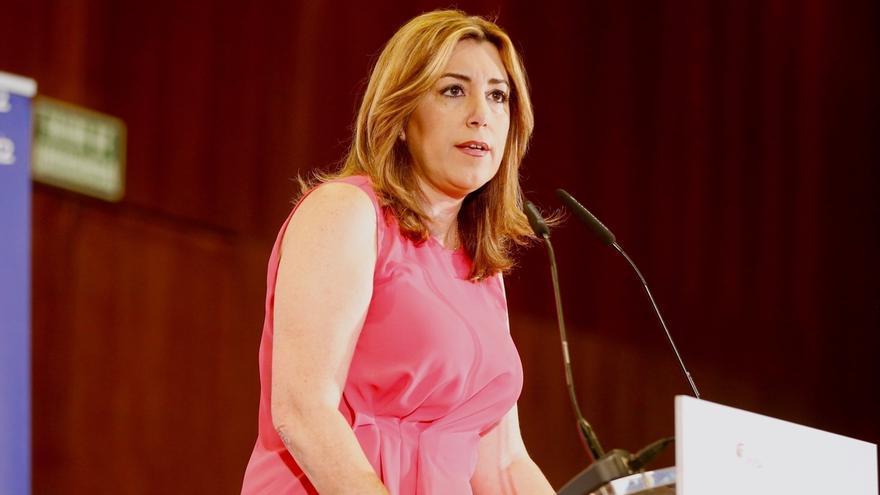 """Susana Díaz señala el """"silencio"""" del PP andaluz ante los exaltos cargos del Gobierno de Aznar imputados en los ERE"""