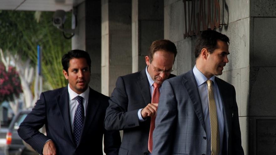 El fiscal Javier Ródenas, el juez Pamparacuatro y el fiscal Ignacio Stampa.
