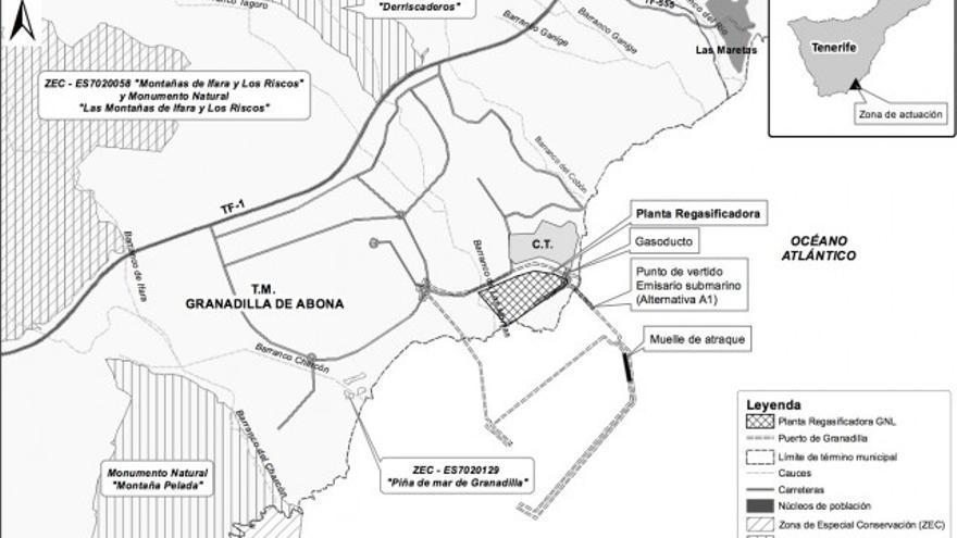 Proyecto de la planta de gas natural licuado en el Puerto de Granadilla